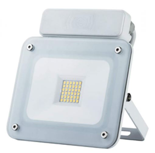 20W LED Slim Micro Sensor Floodlight has an IP65 rating. Colour 4000k